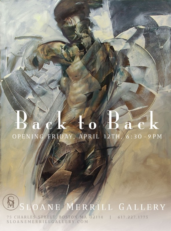 Oil Painting on exhibit at BACK TO BACK group show